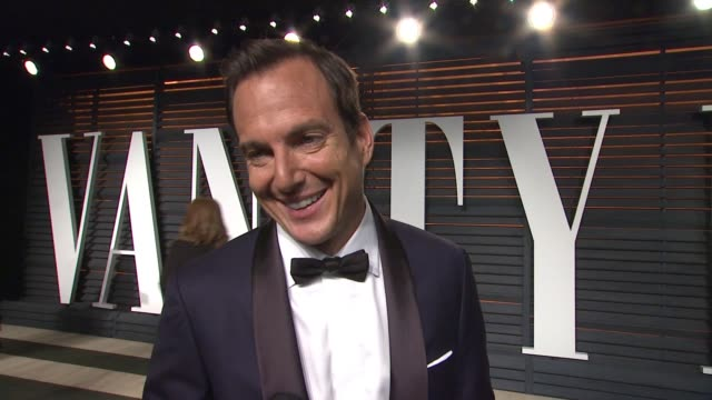 interview will arnett at the 2015 vanity fair oscar party hosted by graydon carter at wallis annenberg center for the performing arts on february 22... - wallis annenberg center for the performing arts stock videos and b-roll footage