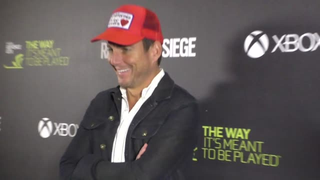 will arnett at the ubisoft's rainbow six siege launch party at exchange in los angeles at celebrity sightings in los angeles on november 23, 2015 in... - ウィル アーネット点の映像素材/bロール