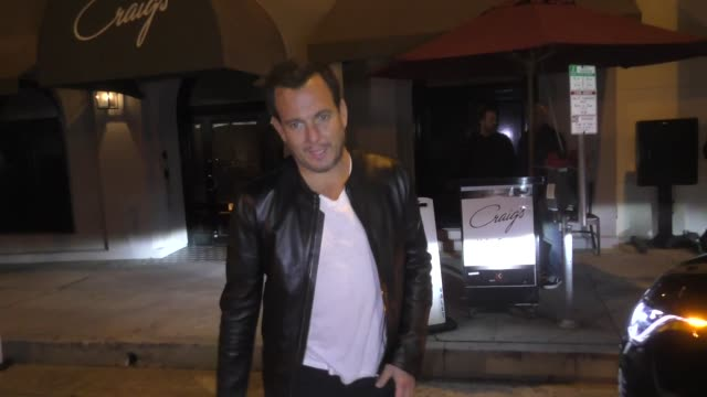 will arnett leaves dinner at craig's restaurant in west hollywood in celebrity sightings in los angeles - will arnett stock videos and b-roll footage