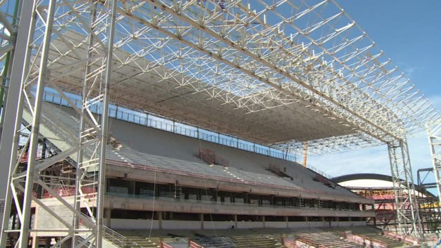 stockvideo's en b-roll-footage met fifa will discuss on tuesday whether the cuiaba stadium where construction is delayed will still host matches of the world cup this summer in brazil... - wereldkampioenschap sport