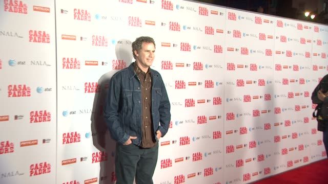 will ferrell at casa de mi padre los angeles premiere on 3/14/12 in los angeles ca - padre stock videos & royalty-free footage