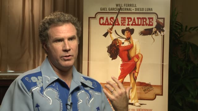 will ferrell describes how this movie is different from his previous ones at casa de mi padre new york press day on 3/10/2012 in new york ny united... - padre bildbanksvideor och videomaterial från bakom kulisserna