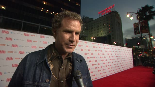 stockvideo's en b-roll-footage met will ferrell on getting this movie mad, on purposely making a bad film with bad edits, on the telenovela style, on this movie being an instructional... - padre