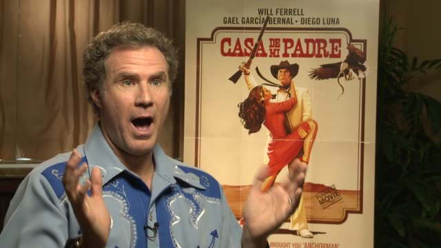 will ferrell says he was always mesmerized at how over the top telenovelas were on how this film developed at casa de mi padre new york press day on... - padre stock videos & royalty-free footage