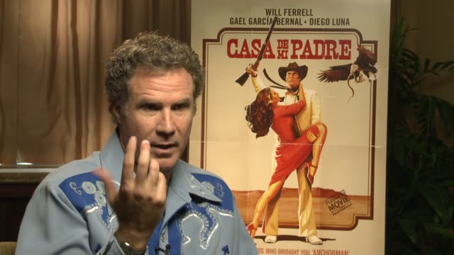 will ferrell says there wasn't much room for improvisation because of the language at casa de mi padre new york press day on 3/10/2012 in new york ny... - padre stock videos & royalty-free footage