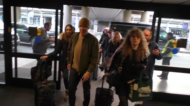 will ferrell signs for fans at the 2020 sundance film festival at salt lake city airport in utah in celebrity sightings in park city, utah, - sundance film festival stock videos & royalty-free footage