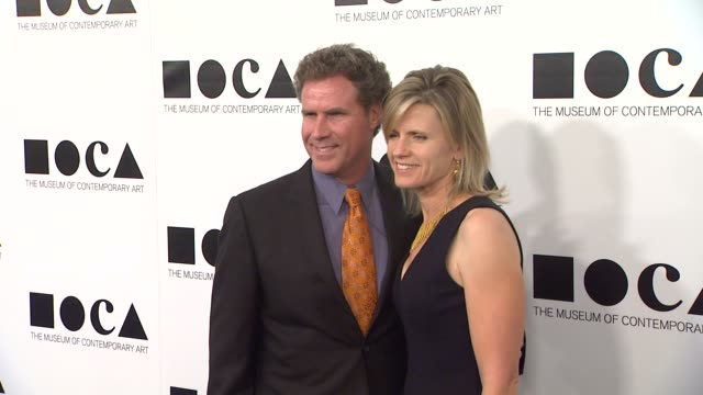 will ferrell viveca paulin at the the museum of contemporary art los angeles presents the annual moca gala at los angeles ca - los angeles museum of contemporary art stock videos and b-roll footage