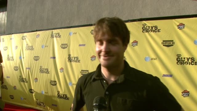 will forte on the event and why guys need their own awards show at the spike tv's guys' choice awards at radford studios in los angeles california on... - spike guys choice awards video stock e b–roll