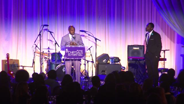 speech will packer at 14th annual chrysalis butterfly ball in los angeles ca - chrysalis butterfly ball video stock e b–roll