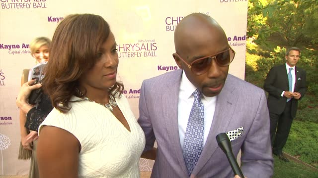 interview will packer on being honored at the event at 14th annual chrysalis butterfly ball in los angeles ca - chrysalis butterfly ball video stock e b–roll