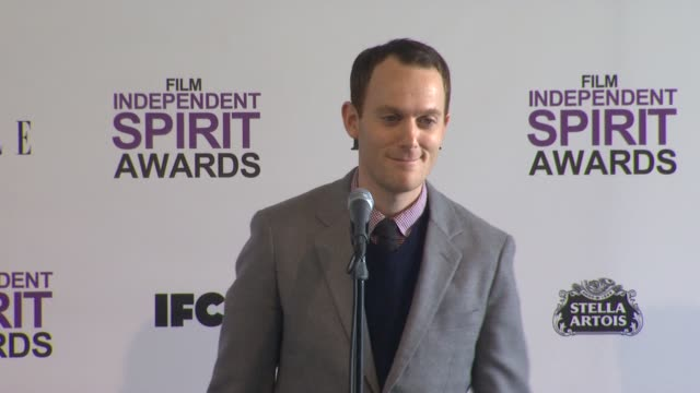 will reiser on what it means to win at 2012 film independent spirit awards press room on 2/25/2012 in santa monica ca - independent feature project stock videos and b-roll footage