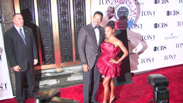 Will Smith and Jada Pinkett Smith at the 64th Annual Tony Awards at New York NY