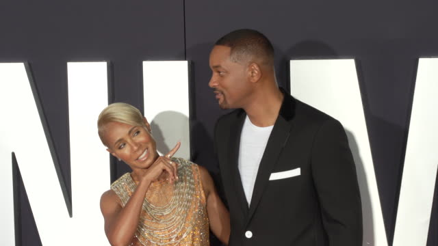 """will smith and jada pinkett smith at the premiere of """"gemini man"""" on october 06, 2019 in hollywood, california. - jada pinkett smith stock videos & royalty-free footage"""