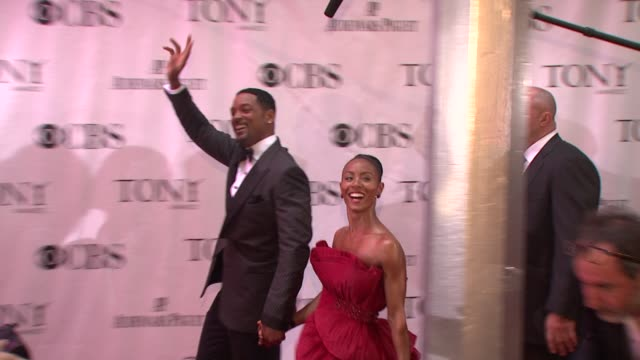 Will Smith and Jada PinkettSmith at the 64th Annual Tony Awards at New York NY