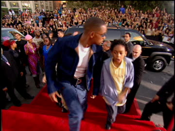 will smith and jaden smith arriving to the 2001 mtv video music awards red carpet - actor stock videos & royalty-free footage