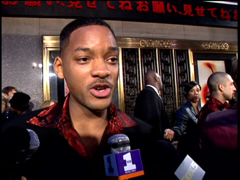 will smith answering questions about his success, fame and the million man march. - anno 1997 video stock e b–roll