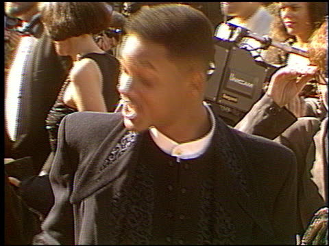 will smith at the 1993 emmy awards entrances at the pasadena civic auditorium in pasadena, california on september 19, 1993. - 1993 stock videos & royalty-free footage