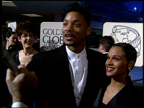 stockvideo's en b-roll-footage met will smith at the 1994 golden globe awards at the beverly hilton in beverly hills california on january 22 1994 - 1994
