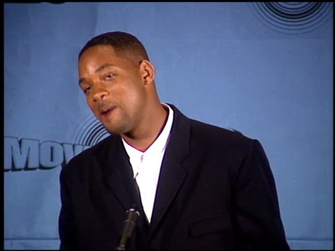 Will Smith at the 1997 MTV Movie Awards press room at Barker Hanger in Santa Monica California on June 7 1997