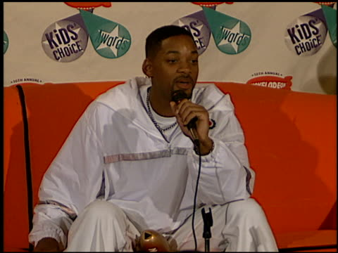 will smith at the 1997 nickelodeon kids' choice awards press room at grand olympic auditorium in los angeles, california on april 19, 1997. - nickelodeon stock videos & royalty-free footage