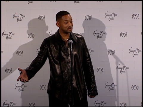 Will Smith at the 1999 American Music Awards press room at the Shrine Auditorium in Los Angeles California on January 11 1999