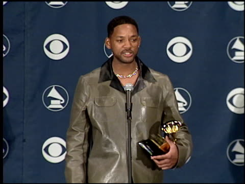 will smith at the 1999 grammy awards backstage at the shrine auditorium in los angeles, california on february 24, 1999. - shrine auditorium stock-videos und b-roll-filmmaterial