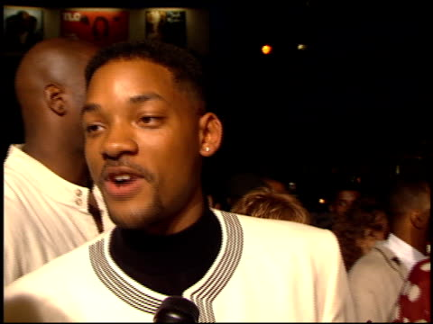 will smith at the 'bad boys' premiere at the cinerama dome at arclight cinemas in hollywood, california on april 6, 1995. - premiere stock videos & royalty-free footage