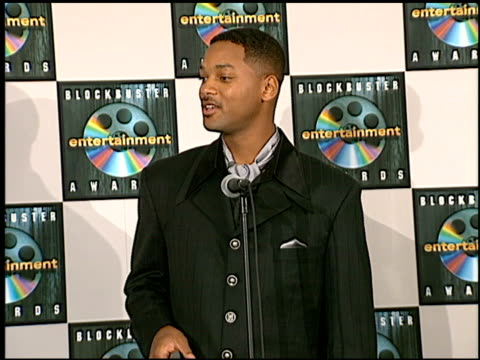 will smith at the blockbuster awards at hollywood pantages theater in hollywood, california on march 11, 1997. - pantages theater stock videos & royalty-free footage