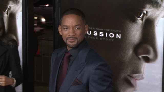 """will smith at the """"concussion"""" world premiere gala screening - afi fest 2015 at tcl chinese theatre on november 10, 2015 in hollywood, california. - 俳優 ウィル・スミス点の映像素材/bロール"""