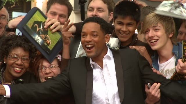 will smith at the hancock premiere at london . - première stock videos & royalty-free footage