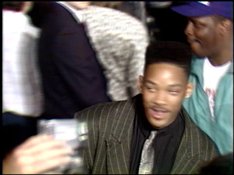 stockvideo's en b-roll-footage met will smith at the 'harlem nights' premier at grauman's chinese theatre in hollywood california on november 17 1989 - 1989