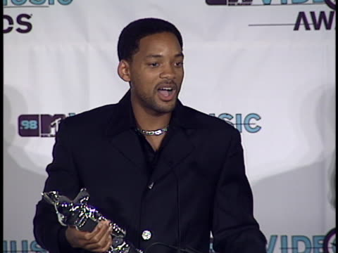 will smith at the mtv video music awards at universal amphitheatre - ausrutscher stock-videos und b-roll-filmmaterial