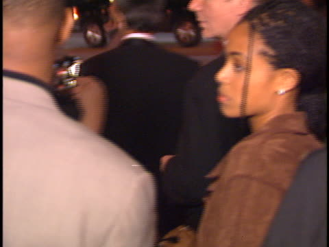 stockvideo's en b-roll-footage met will smith at the polygram grammy party at chasens - 1996