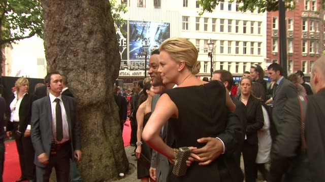 will smith, charlize theron and jason bateman at the hancock premiere at london . - premiere stock videos & royalty-free footage