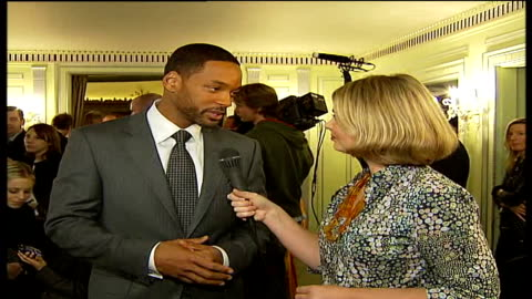 will smith hosts lunch for prince's trust charity; will smith interview sot - on 'pursuit of happyness' triumph over adversity storyline based on... - プリンスズトラスト点の映像素材/bロール