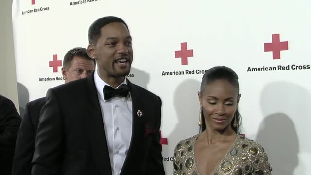 will smith, jada pinkett smith at the american red cross of santa monica's annual 'red tie affair' at santa monica ca. - jada pinkett smith stock videos & royalty-free footage