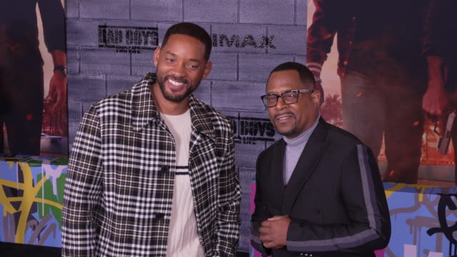 will smith martin lawrence at the world premiere of bad boys for life - gif stock videos and b-roll footage