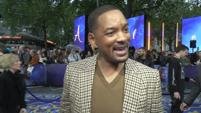 will smith on turning 50, the movie and bollywood at odeon luxe leicester square on may 09, 2019 in london, england. - leicester square stock videos & royalty-free footage