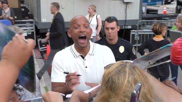 Will Smith outside Conan O'Brien San Diego Comic Con taping at Spreckels Theatre in Celebrity Sightings in San Diego