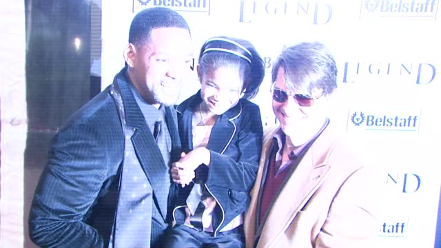 Will Smith Willow Smith and Tom Cruise at the 'I Am Legend' Premiere at Madison Square Garden in New York New York on December 11 2007