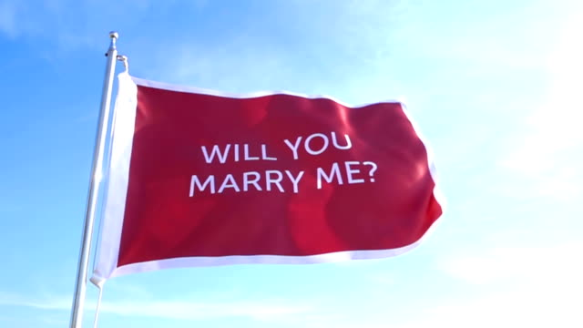 Will You Marry Me Flag