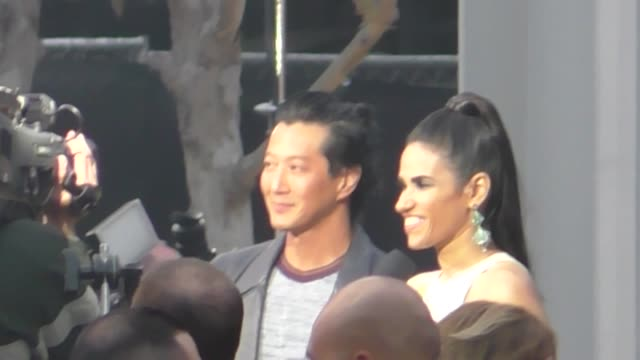 Will Yun Lee attends the Rampage premiere at Microsoft Theater in Los Angeles in Celebrity Sightings in Los Angeles
