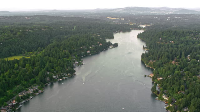 AERIAL Willamette River in Oregon