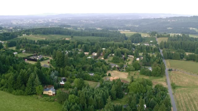 stockvideo's en b-roll-footage met antenne willamette valley in oregon - valley