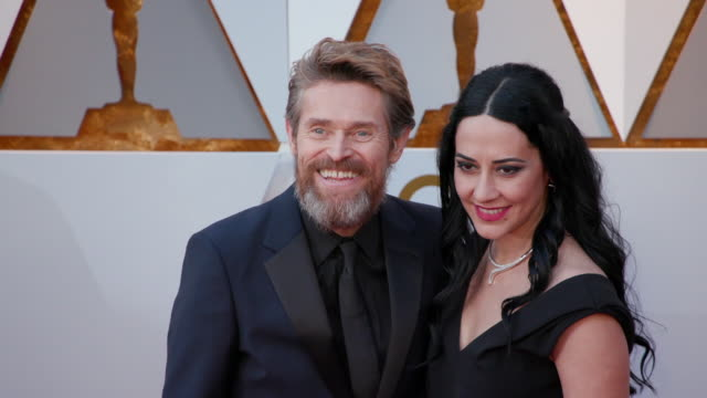 gif willem dafoe and giada colagrande at 90th academy awards at dolby theatre on march 04 2018 in hollywood california - 90th annual academy awards stock videos & royalty-free footage
