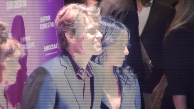 willem dafoe and guest at the new york film festival 'the darjeeling limited' premiere opening night at film society of lincoln center in new york... - film premiere stock videos & royalty-free footage