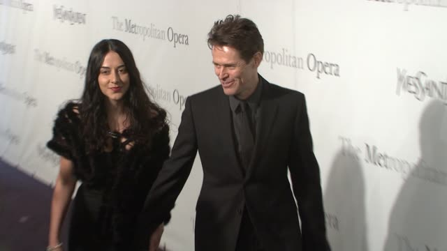 Willem Dafoe and guest at the The Metropolitan Opera's 125th Anniversary Gala at New York NY