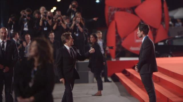 willem dafoe at 'pasolini' red carpet - 71st venice international film festival at palazzo del cinema on september 04, 2014 in venice, italy. - 第71回ベネチア国際映画祭点の映像素材/bロール