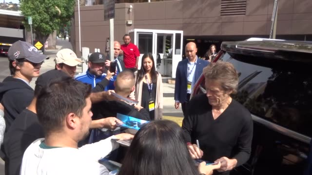 willem dafoe at the deadline the contenders event at directors guild of america in los angeles at celebrity sightings in los angeles on november 02... - director's guild of america stock videos & royalty-free footage