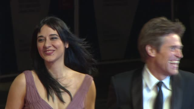 willem dafoe, giada colagrande at 'pasolini' red carpet - 71st venice international film festival at palazzo del cinema on september 04, 2014 in... - 第71回ベネチア国際映画祭点の映像素材/bロール